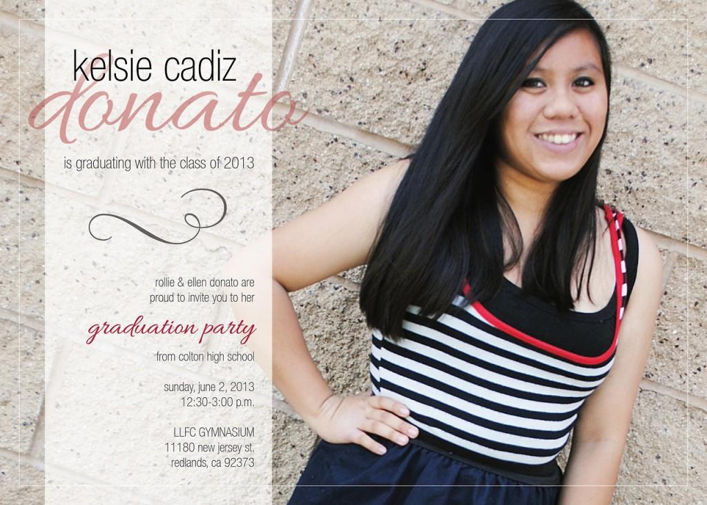 Graduation Invitation: Kelsie Donato